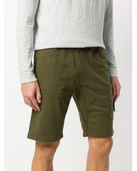 Stone Island Green Drawstring Shorts for men