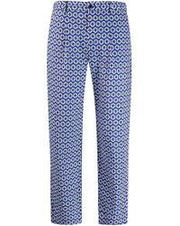 Altea Blue Geometric Print Trousers