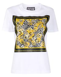 Versace Jeans バロッコ プリント Tシャツ White