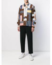 メンズ Bode パッチワーク シャツ Multicolor