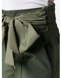 Укороченные Брюки С Бантом Elisabetta Franchi, цвет: Green