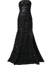 Carolina Herrera ストラップレス ドレス Black