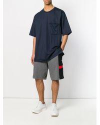 Y-3 - Blue Oversize T-shirt for Men - Lyst