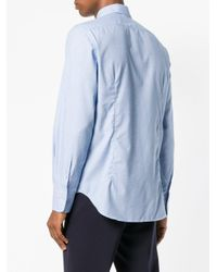 Canali Blue Classic Shirt for men