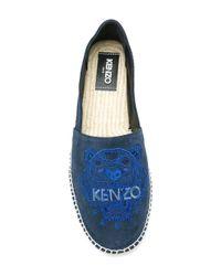 KENZO Blue Tiger Espadrilles for men