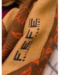 Sciarpa con stampa di Fefe in Multicolor da Uomo