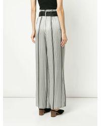 Pantalones anchos a rayas Asceno de color Black