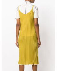 Marni - Yellow Ribbed Knit Slip Dress - Lyst
