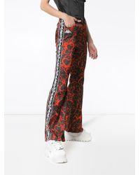 Charms X Kappa Lava-print Flame-stripe Flared Trousers
