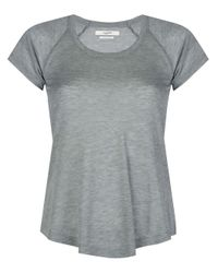 Camiseta Anette con cuello redondo Étoile Isabel Marant de color Gray