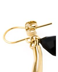 Wouters & Hendrix Black 'bamboo' Onyx Earrings