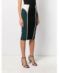 Elisabetta Franchi カラーブロック スカート Black