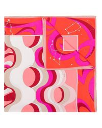 Emilio Pucci Pink Copacabana Print Silk-twill Square Scarf