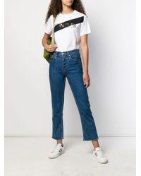 Camiseta con logo estampado Moncler de color White