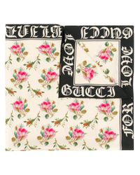 Gucci - Multicolor Gothic Blind For Love Scarf - Lyst