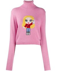 Maglione a collo alto di Chiara Ferragni in Pink