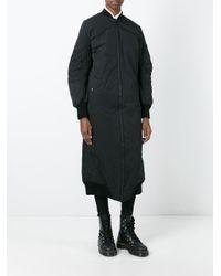 Barbara I Gongini Black Oversized Zip Up Coat