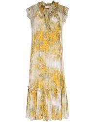 Платье Миди С Цветочным Принтом Zimmermann, цвет: Yellow