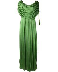 Lanvin ドレープ ドレス Green