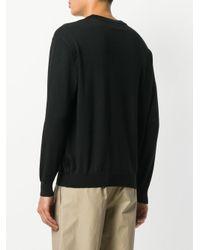 Moschino - Black Logo Intarsia-knit Sweater for Men - Lyst