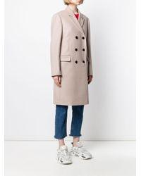 Calvin Klein Crombie ダブルコート Natural