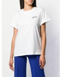Être Cécile White Eiffel Tower Print T-shirt