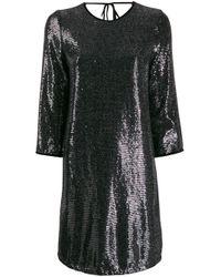 Liu Jo メタリック シフトドレス Black