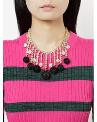 Shourouk - Metallic Sequinned Necklace - Lyst