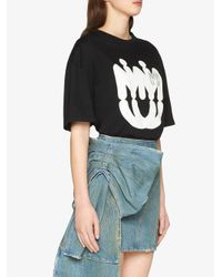 Miu Miu ロゴプリント Tシャツ Black