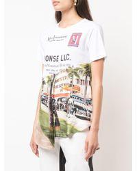 Monse アシンメトリー Tシャツ White