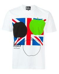 T-shirt Union Jack con stampa di Comme des Garçons in Multicolor da Uomo