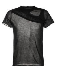 T-shirt di Rick Owens in Black da Uomo