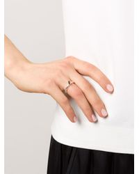 Rosa Maria Metallic Solitaire Ruby Ring