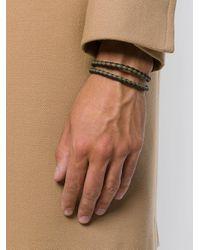 Tod's - Gray Braided Layered Bracelet for Men - Lyst