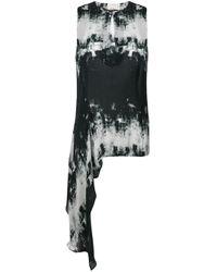 Débardeur asymétrique Nicole Miller en coloris Black
