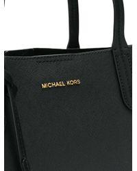 MICHAEL Michael Kors Black Large Square Tote Bag