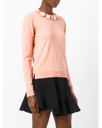 Fendi Pink Floral Embroidered Sweater