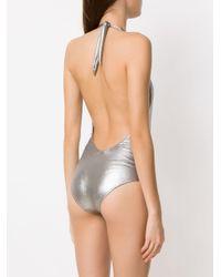 Maillot de bain Argento Adriana Degreas en coloris Metallic