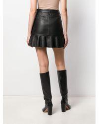 Falda con dobladillo de volantes MICHAEL Michael Kors de color Black