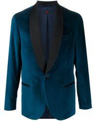 メンズ Mp Massimo Piombo ベルベット テーラードジャケット Blue
