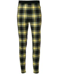 Ermanno Scervino Black Plaid High-waist Fitted Trousers