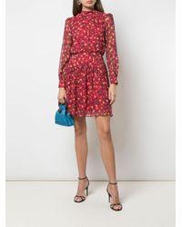 Платье Мини С Цветочным Принтом Saloni, цвет: Red