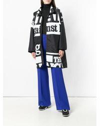 Maison Margiela Black Printed Zipped Coat