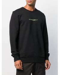 Oakley Black Embroidered Logo Sweatshirt for men