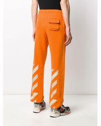 Pantalon de jogging imprimé Off-White c/o Virgil Abloh pour homme en coloris Orange