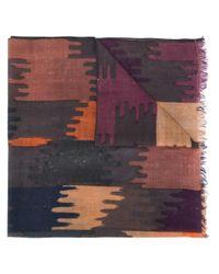 Isabel Marant Brown Yaele Abstract-print Scarf