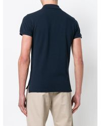 Etro - Blue Short Sleeve Polo Shirt for Men - Lyst
