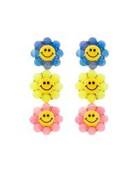Venessa Arizaga - Multicolor Happy Flower Earrings - Lyst