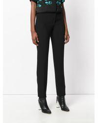Elie Saab Black Slim-fit Tailored Trousers