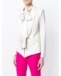 Styland リボン シルクスカーフ White
